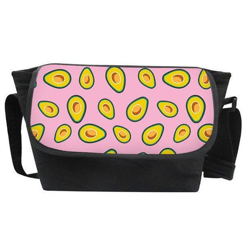 Avocado Canvas Crossbody Bag-Pink-Avocado Design Store