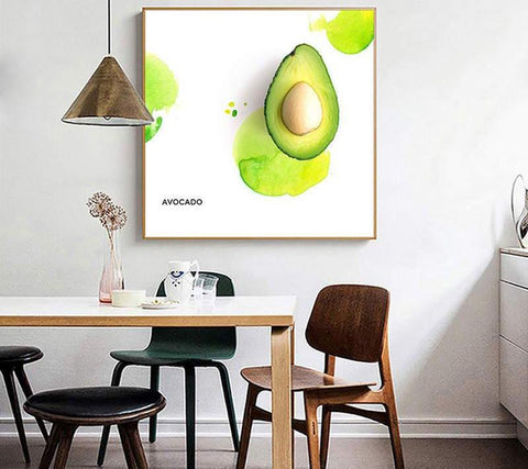 Summer Vibe Wall Art-40x40cm 16x16in-Avocado-Avocado Design Store