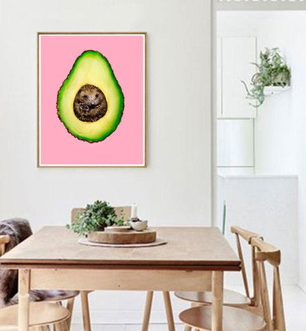 Cartoon Avocado Canvas-20x30cm No Frame-Pink Avocado-Avocado Design Store