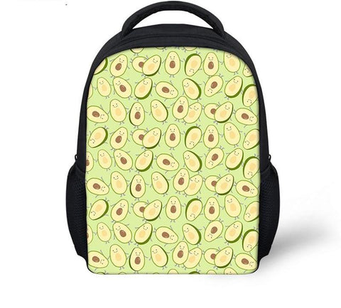Avocado Canvas Backpack-Avocado Mosaic 1-Avocado Design Store