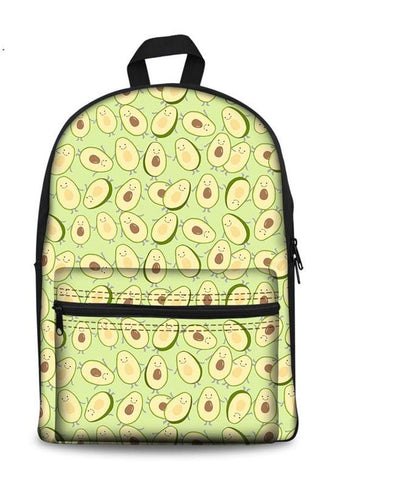 Avocado Canvas Knap sack-Avocado Mosaic 1-Avocado Design Store