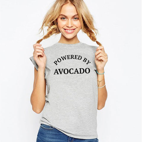 Powered by Avocado Shirt-black-S-Avocado Design Store