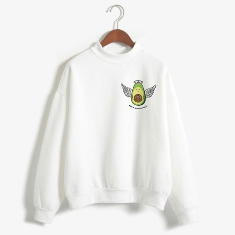 Avocado Kawaii Sweatshirt - Holy Guacamole!-L-Avocado Design Store
