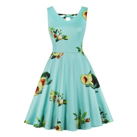 Avocado Print Summer Dress-S-Avocado Design Store