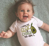 Extra as Guac! Baby Onesie-White-3M-Avocado Design Store