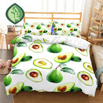 Simple Avocado Print Duvet Set Cover-AU queen-China-Avocado Design Store