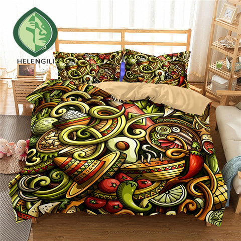 Graphic Avocado Print Duvet Set Cover-AU queen-China-Avocado Design Store