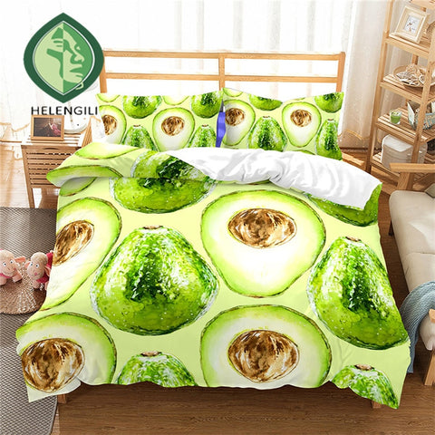 Festive Avocado Print Duvet Set Cover-US twin-China-Avocado Design Store