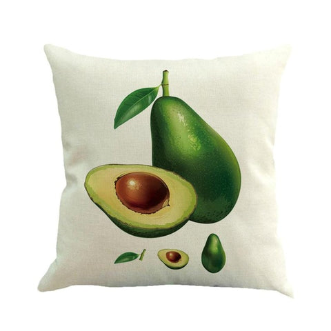 Avocado Painted Cushion Cover-Avocado Design Store