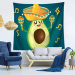 Maracas Avocado Pattern Tapestry-Maracas-150x130-Avocado Design Store
