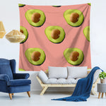 Chill Avocado Pattern Tapestry-Pink Avocados-150x130-Avocado Design Store