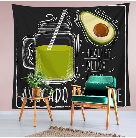Avocado Smoothie Pattern Tapestry-Avocado Smoothie-150x130-Avocado Design Store