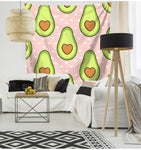 Love Avocado Pattern Tapestry-Avocado Heart-150x130-Avocado Design Store