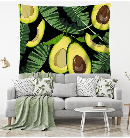 Tropical Avocado Pattern Tapestry-Tropicana-150x130-Avocado Design Store