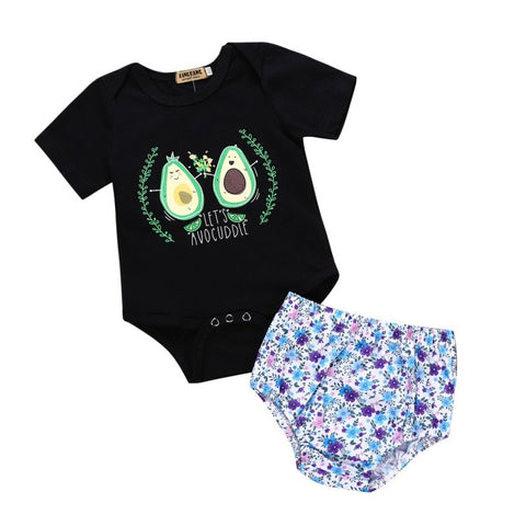 Let's Avocuddle! Baby Onesie and Romper-24M-Avocado Design Store