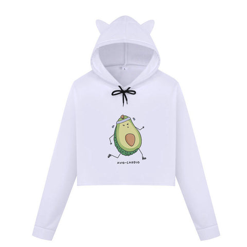 Avo-cardio Cats Ears Hoodie-L-Avocado Design Store