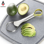 Stainless Steel Avocado 2-in-1 Slicer-Avocado Design Store