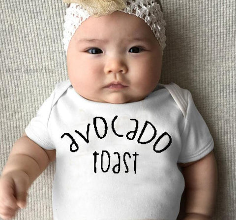 Avocado Toast Baby Onesie-White-3M-Avocado Design Store