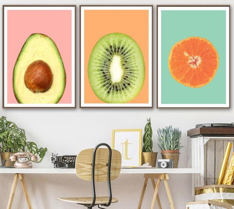 Nordic Avocado and Fruit Wall Poster-13X18 cm No Framed-Avocado-Avocado Design Store