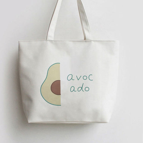 Avocado Canvas Tote Bags-Avocado Design Store