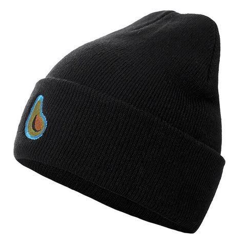 Avocado Embroidered Beanie-Black-54cm-60cm-Avocado Design Store