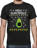 Holy Guacamole & Chips Shirt-Black-Asia Size S-Avocado Design Store