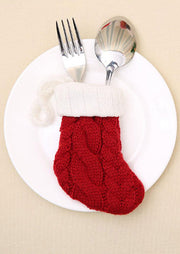 Christmas Socks Tableware Holder Pocket