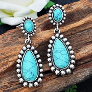Flower Turquoise Vintage Earrings