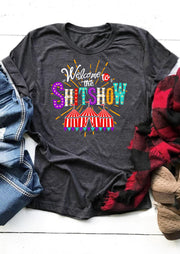 Welcome To The Show T-Shirt Tee - Dark Grey