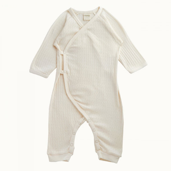 Pointelle Kimono Stretch & Grow Natural 0-3M