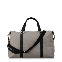 Canvas Weekender Bag Light Grey
