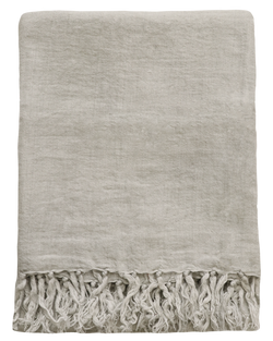 Indira Linen Throw Icy Grey