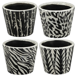 Medium Black & White Planter