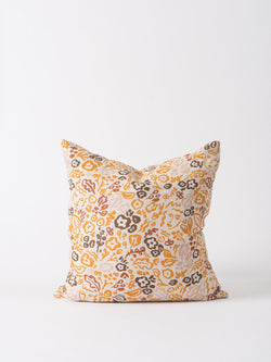 Celia Linen Cushion Cover Pumpkin/Multi 55cm