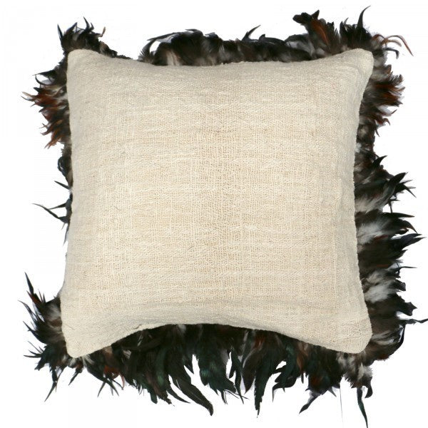 Feather Cushion Natural