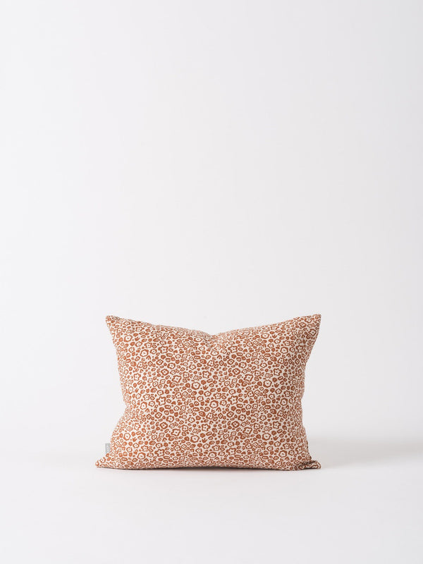 Flora Cushion Cover Chestnut/Nougat 45x35cm