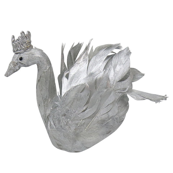 Hanging Feather Swan Silver