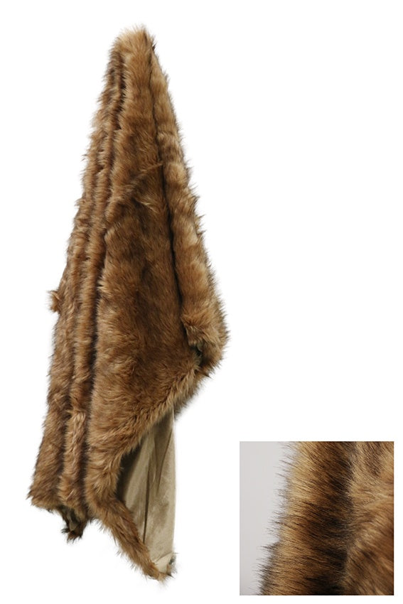 Luxury Moa Style Faux Fur Throw 130 x 170