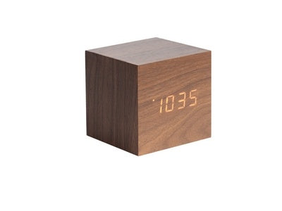 Karlsson Mini Cube Wood Alarm Clock