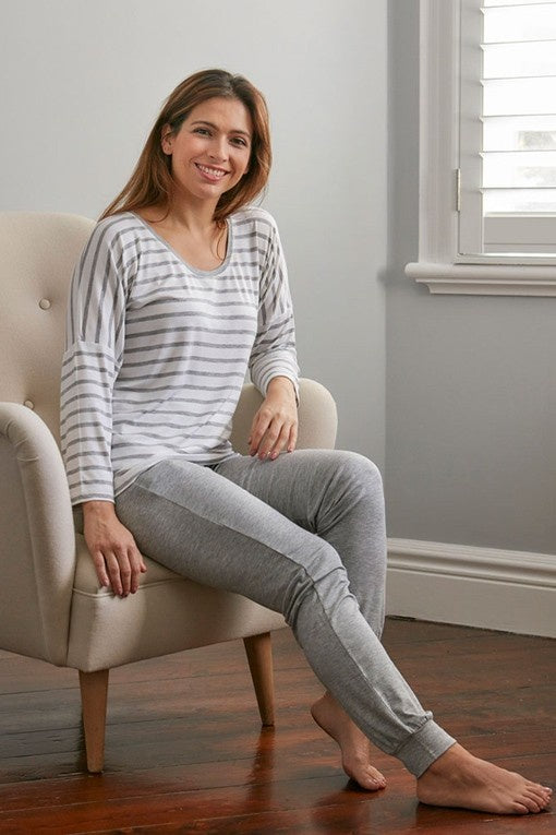 NORA Knit PJ Set Foggy Grey