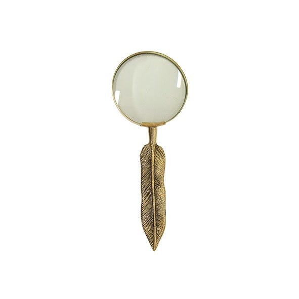 Leaf Design Magnifying Glass Gold