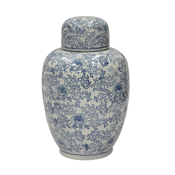 Ginger Jar Large - Blue & White