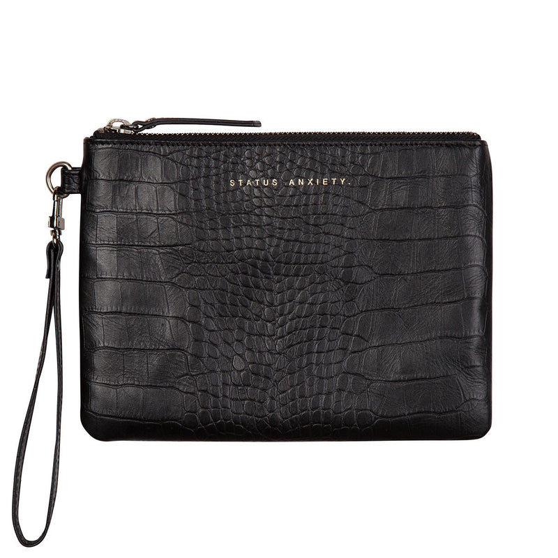 Fixation Wallet - Black Croc Embossed