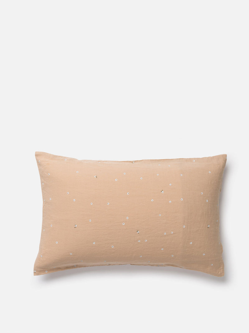Billie Linen Pillowcase PR Latte/Multi