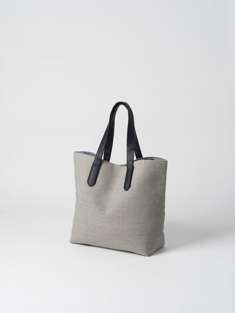 Canvas Shopping Bag Light Grey