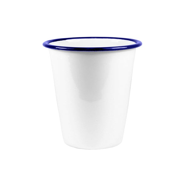 Enamel Tumbler 350ml White/Blue