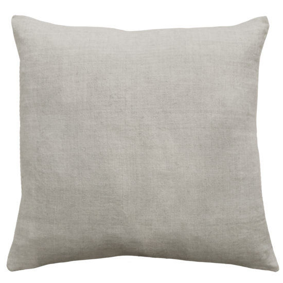 Indira Cushion with Feather Inner - Icy Grey