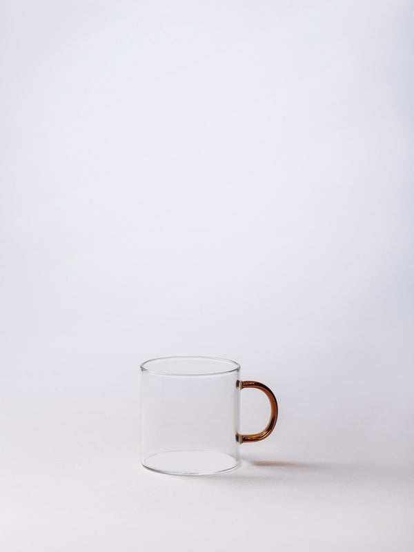 Mug w/ Coloured Handle Clear/Amber