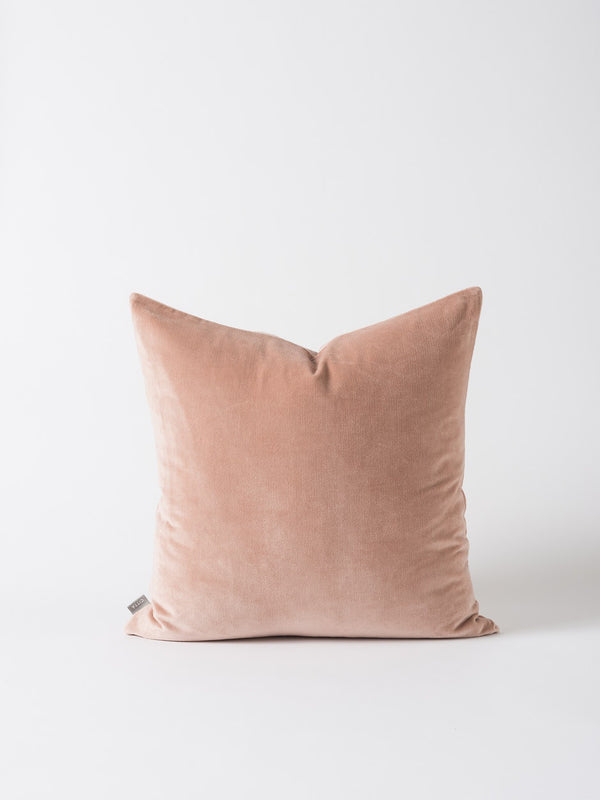 Cotton Velvet Cushion Cover Pecan 55cm