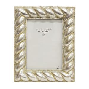 Silver Rope Rect Frame 5x7""